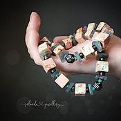 Украшения handmade. Livemaster - original item Stone of ocean Jasper is in the dark accessories. Handmade.