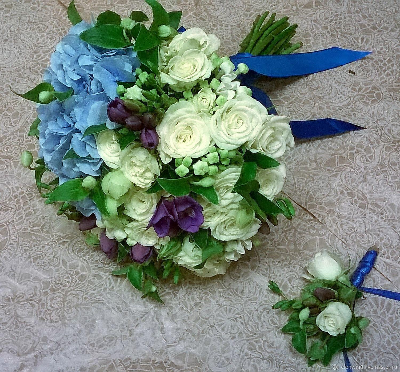 a9ddd1cd9799b73 Свадебные цветы ручной работы. Ярмарка Мастеров - ручная работа. Купить  Букет невесты бело- ...