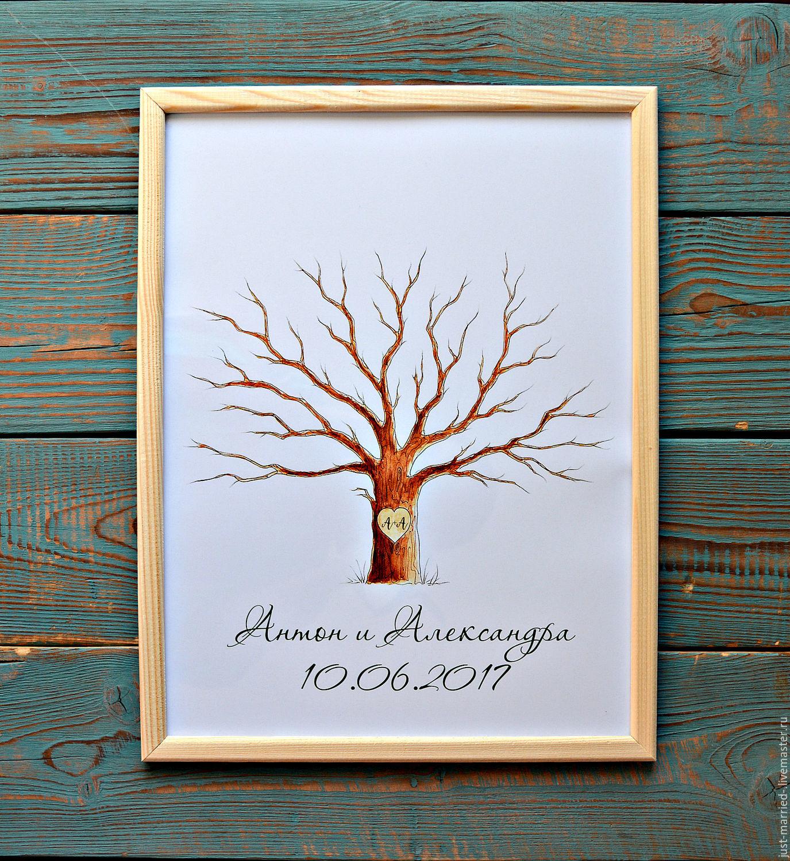 Дерево поздравлений на свадьбу 44