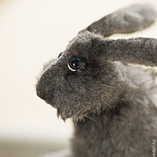 """Куклы и игрушки ручной работы. Ярмарка Мастеров - ручная работа """"Серый""""игрушка заяц.. Handmade."""