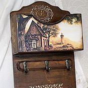 Для дома и интерьера ручной работы. Ярмарка Мастеров - ручная работа Ключница с карманом. Handmade.