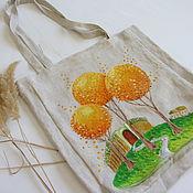 Сумки и аксессуары ручной работы. Ярмарка Мастеров - ручная работа Эко-сумка из льна. Handmade.