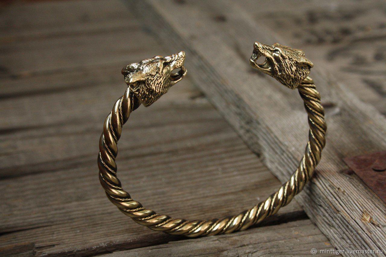 Bronze bracelet 'Fox', Bead bracelet, Volgograd,  Фото №1