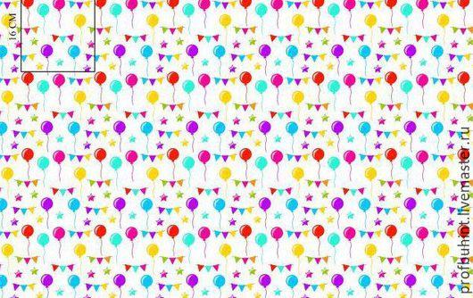 """Шитье ручной работы. Ярмарка Мастеров - ручная работа. Купить Польский Хлопок 100% """"Шарики разноцветные""""  В НАЛИЧИИ.. Handmade."""