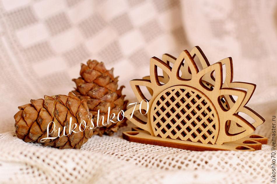 Napkin holder made of cedar 'Sunflower'. Napkin holder made of wood, Napkin holders, Tomsk,  Фото №1