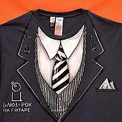 """Одежда ручной работы. Ярмарка Мастеров - ручная работа Футболка - смокинг """"Стильный серый"""". Handmade."""