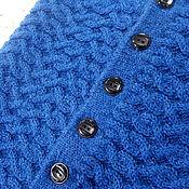 Аксессуары ручной работы. Ярмарка Мастеров - ручная работа Синий снуд на пуговицах. Handmade.