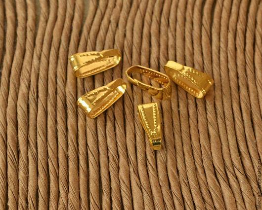 Для украшений ручной работы. Ярмарка Мастеров - ручная работа. Купить 10шт Держатель для кулона (бейл) клипса, золото. Handmade.