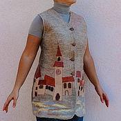 """Одежда ручной работы. Ярмарка Мастеров - ручная работа Жилет валяный """"Далмация"""". Handmade."""