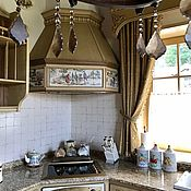 Для дома и интерьера handmade. Livemaster - original item Painting ceramic tile and Exhaust duct toile de Jouy. Handmade.