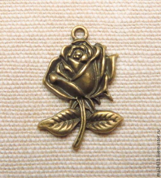 Подвеска роза, античная бронза