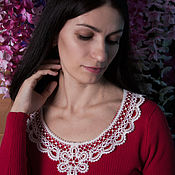 Материалы для творчества handmade. Livemaster - original item Insert lace white. Handmade.
