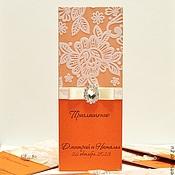 """Свадебный салон ручной работы. Ярмарка Мастеров - ручная работа приглашение на свадьбу """"Оранж"""". Handmade."""