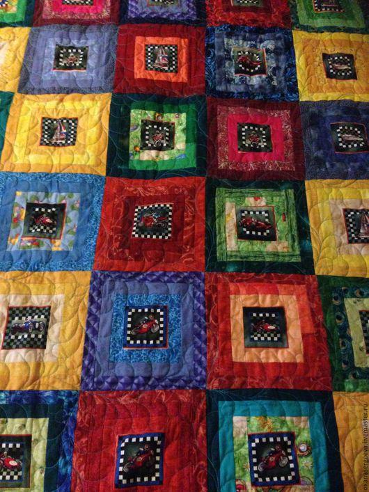 Текстиль, ковры ручной работы. Ярмарка Мастеров - ручная работа. Купить Машинки и кораблики. Handmade. Покрывало в детскую, пэчворк, радость