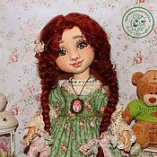 Кукла Поленька текстильная интерьерная с объемным личиком