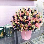 Композиции ручной работы. Ярмарка Мастеров - ручная работа Интерьерная композиция из сухоцветов. Handmade.