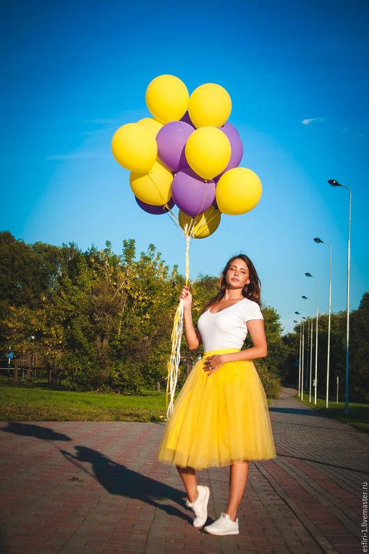 """Юбки ручной работы. Ярмарка Мастеров - ручная работа. Купить юбка """"Луч солнца"""". Handmade. Желтый, юбка нарядная"""