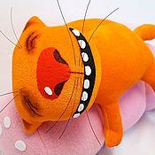 Куклы и игрушки handmade. Livemaster - original item Sausage dream №2, soft toy plush red cat Vasya Lozhkina. Handmade.