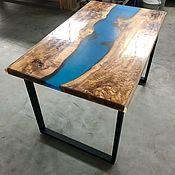 Столы ручной работы. Ярмарка Мастеров - ручная работа Стол река. Handmade.