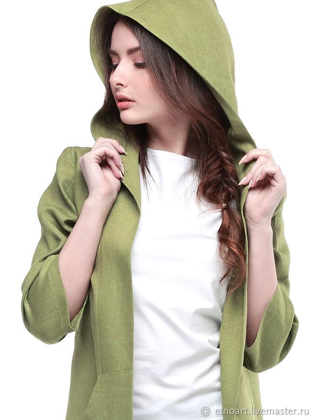 100% linen dust jacket, Jackets, Tomsk,  Фото №1