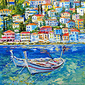Картины и панно handmade. Livemaster - original item The picture with the boats
