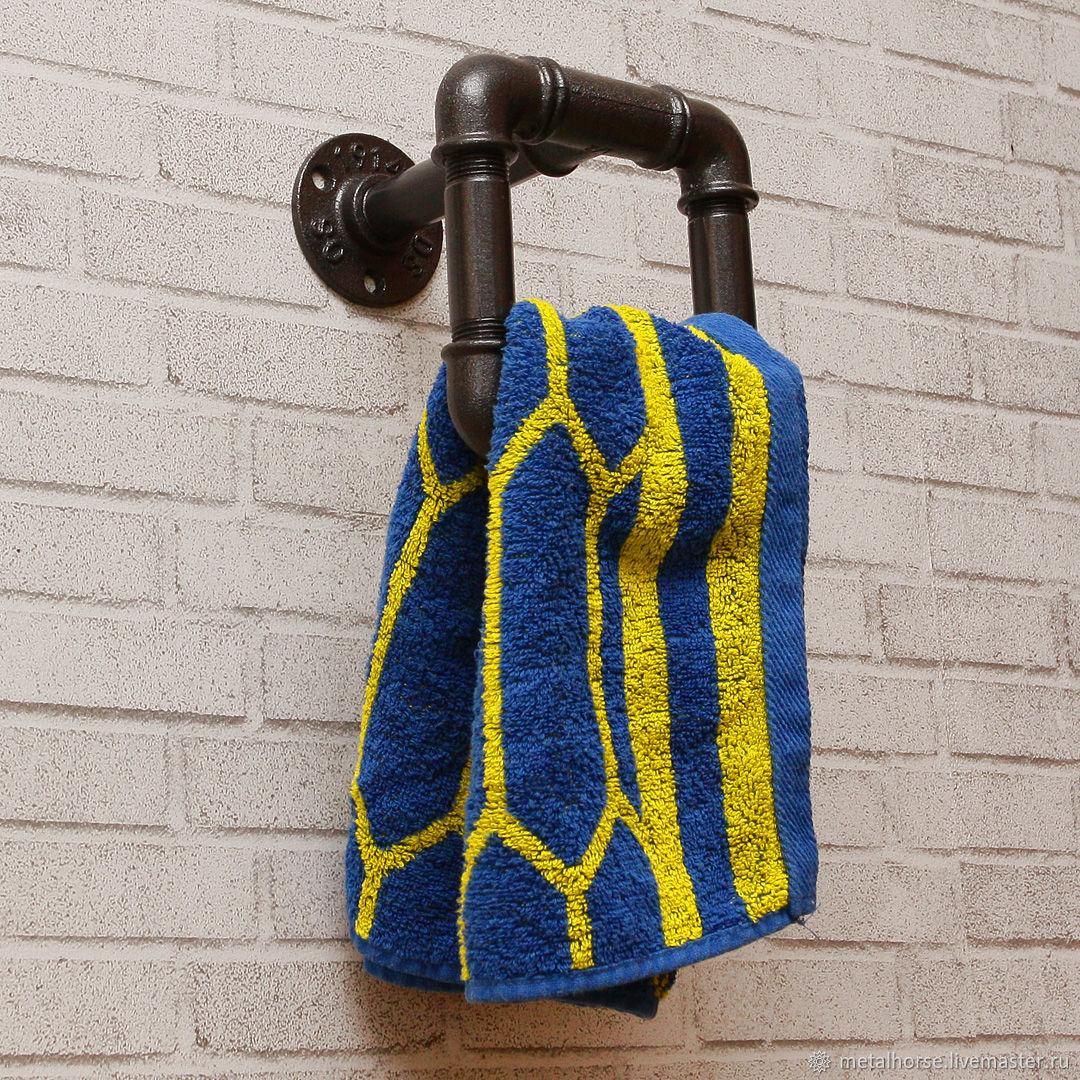 Вешалка для полотенец в стиле лофт, стимпанк, ретро, Ванная комната, Москва, Фото №1