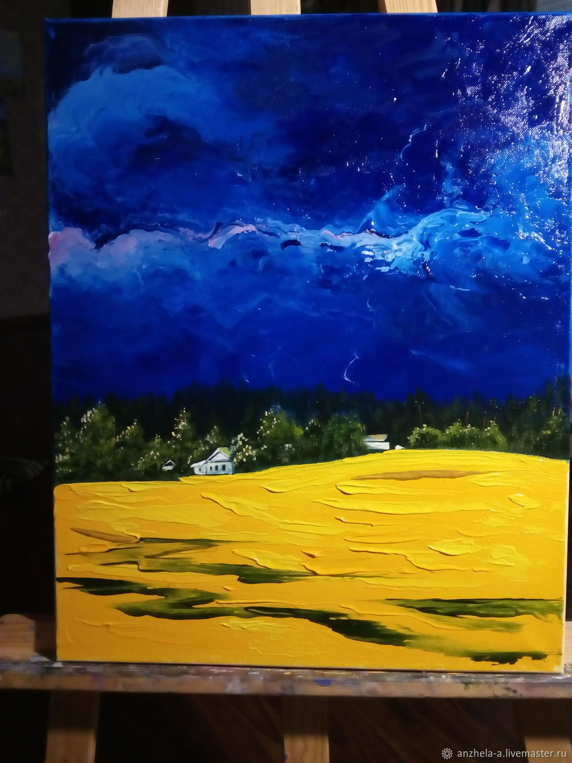 Author's painting 'After the storm' 50/40 oil on canvas, Pictures, Moscow,  Фото №1