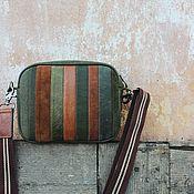Сумки и аксессуары handmade. Livemaster - original item Women`s crossbody bag made of genuine leather and suede khaki. Handmade.