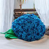 Для дома и интерьера ручной работы. Ярмарка Мастеров - ручная работа Подушка Гортензия. Handmade.