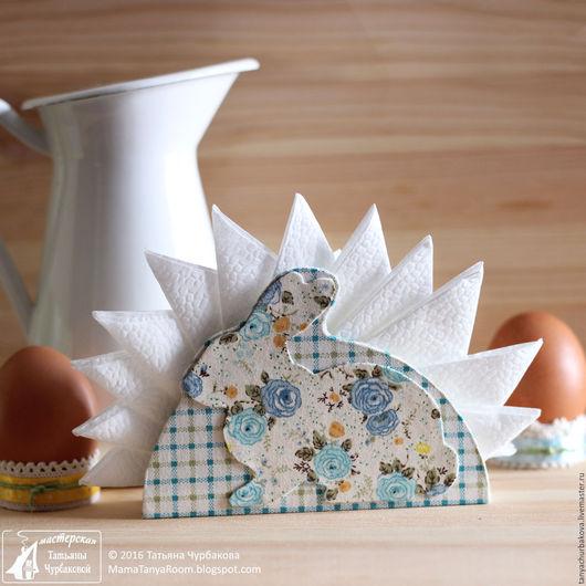 """Кухня ручной работы. Ярмарка Мастеров - ручная работа. Купить Салфетница """"Пасхальный кролик"""" (картонаж). Handmade. Голубой, Пасха"""