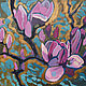 Oil painting. Flowers . Magnolia, Pictures, Moscow,  Фото №1