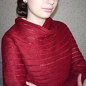 """Одежда ручной работы. Ярмарка Мастеров - ручная работа Свитер-шарф """"Cherry"""". Handmade."""