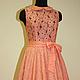 Платья ручной работы. Ярмарка Мастеров - ручная работа. Купить Яркое кружевное платье. Handmade. Рыжий, летнее платье