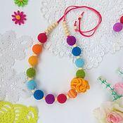 Слингобусы ручной работы. Ярмарка Мастеров - ручная работа Радужные слингобусы с цветочком. Handmade.