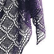 Аксессуары ручной работы. Ярмарка Мастеров - ручная работа Стильная фиолетовая шаль. Handmade.