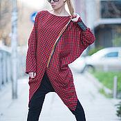 Одежда handmade. Livemaster - original item Woolen tunic in the box with zipper - TU0518CT. Handmade.