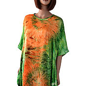 handmade. Livemaster - original item Summer dress tunic made of satin. Handmade.