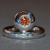 """Украшения ручной работы. Ярмарка Мастеров - ручная работа """"Империо"""" - кольцо с натуральным цирконом и бриллиантами. Handmade."""