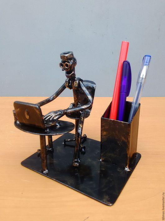 Карандашницы ручной работы. Ярмарка Мастеров - ручная работа. Купить Карандашницы диджей,программист. Handmade. Программист, из болтов и гаек