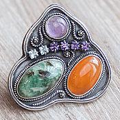 "Rings handmade. Livemaster - original item Кольцо ""Самоцветная горка"" (15). Handmade."