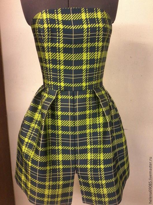 Платья ручной работы. Ярмарка Мастеров - ручная работа. Купить Платье на корсете с шортами. Handmade. Разноцветный, платье, натуральный шёлк