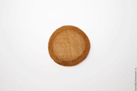 Основа для шляпки, вуалетки, синамей, диаметр 7 см. Цвет: БРОНЗА, полуфабрикат для изготовления шляп и головных уборов. Анна Андриенко. Ярмарка Мастеров.