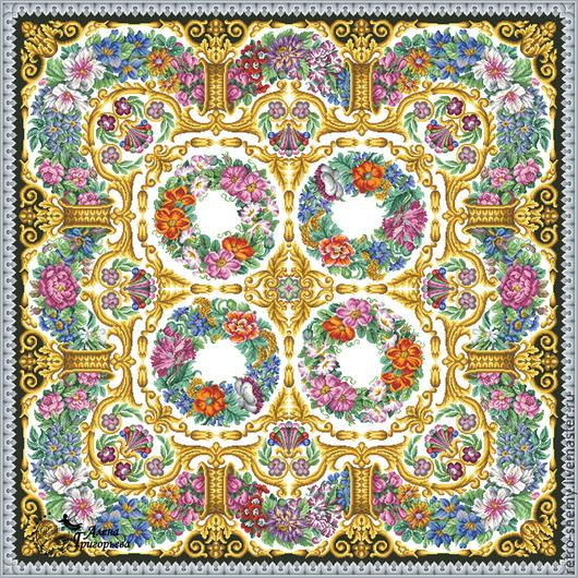 """Вышивка ручной работы. Ярмарка Мастеров - ручная работа. Купить Схема вышивки """"Цветочный ковер"""". Handmade. Схема для вышивки, ретро"""