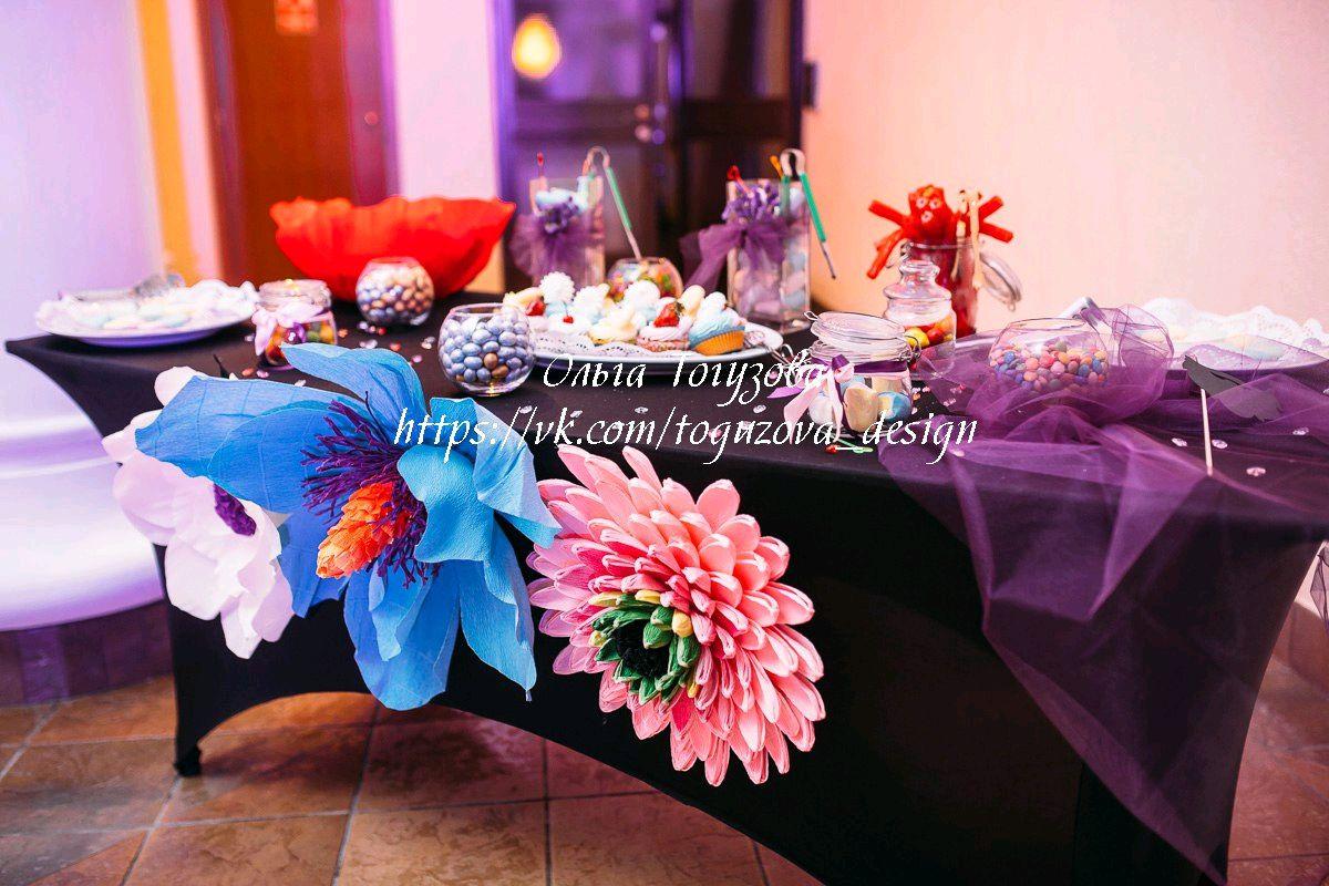 Оформление цветами праздников