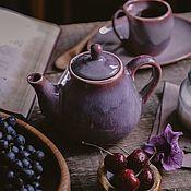 Посуда handmade. Livemaster - original item Set of tableware: Teapot and tea pair 200 ml-mug and saucer. Handmade.
