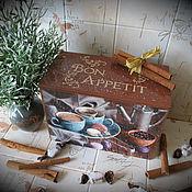 """Для дома и интерьера ручной работы. Ярмарка Мастеров - ручная работа Короб для хранения """"bon appetite"""" Короб для сладостей. Handmade."""