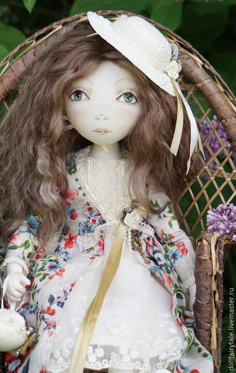 Коллекционные куклы ручной работы. Ярмарка Мастеров - ручная работа. Купить Ася. Handmade. Бирюзовый, кукла текстильная, милая кукла
