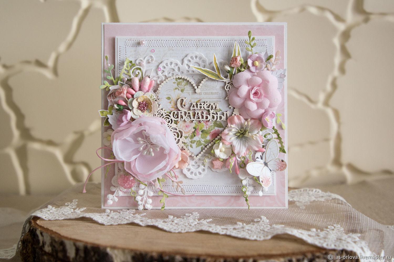 Свадебная открытка в коробочке мастер класс