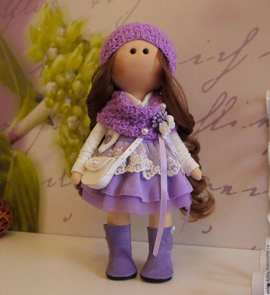 Коллекционные куклы ручной работы. Ярмарка Мастеров - ручная работа. Купить Текстильная куколка-малышка Банни. Handmade. шатенка, кружево