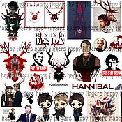Материалы для творчества handmade. Livemaster - original item Stickers TV shows Hannibal, Dexter, scream Queen, Once upon a time. Handmade.